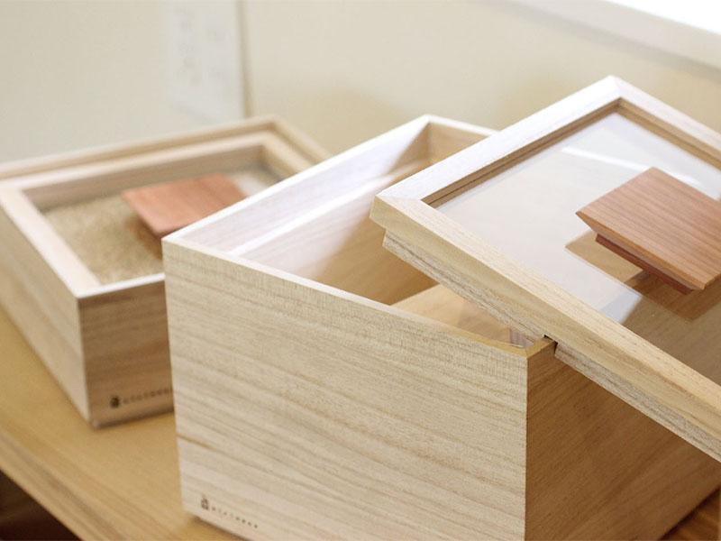 日本Kirihaco桐木儲物箱